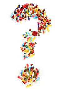 pill questions mark