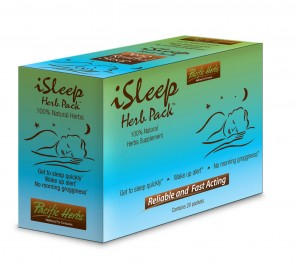 Herbal sleep aid iSleep Herb Pack by Pacific Herbs